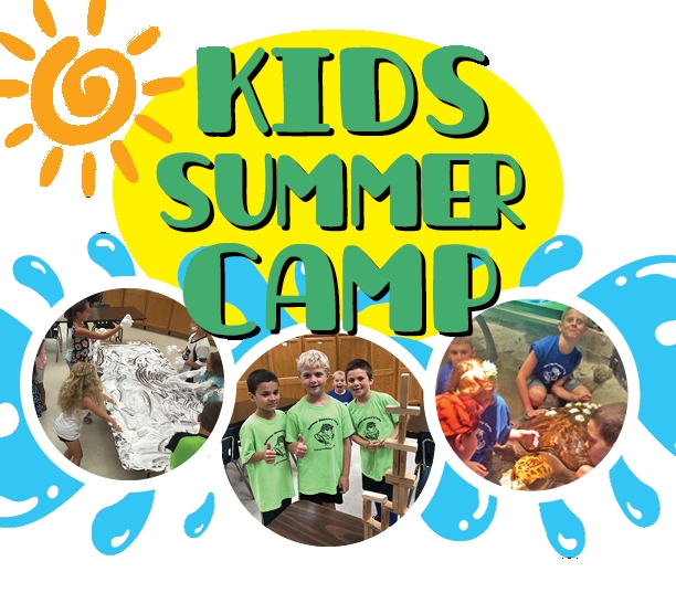 Kids Summer Camp Banner - Has 3 Photos of Groups of Kids Doing Various Summer Camp Activities